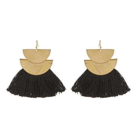 Triangle Tassel Earrings , ${color}