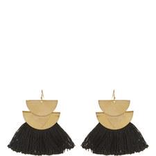 Triangle Tassel Earrings