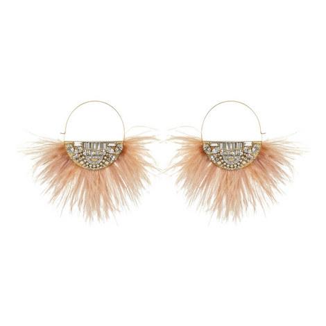 Feather Hoop Earrings , ${color}