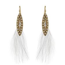 Diamanté Feather Earrings