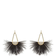 Diamanté Feather Earrings