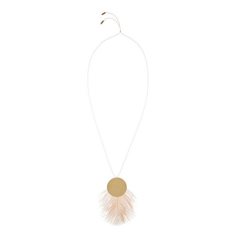 Feather Pendant Necklace, ${color}