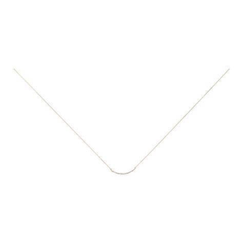 Large Pavé Curve Necklace, ${color}
