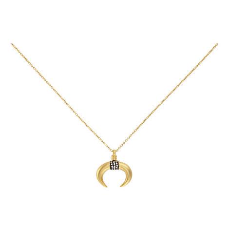 Half Moon Crystal Pendant Necklace, ${color}