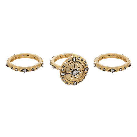 3 Piece Crystal Star Rings, ${color}