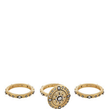 3 Piece Crystal Star Rings