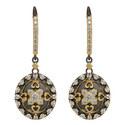 Crystal Embellished Drop Earrings, ${color}