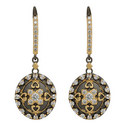 Crystal Embellished Drop Earrings, ${color}