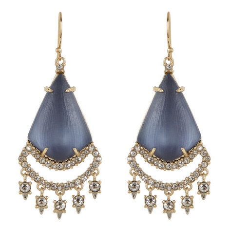 Crystal Lace Chandelier Earrings , ${color}