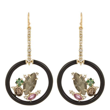 Gem Cluster Drop Earrings, ${color}