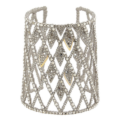 Crystal Encrusted Cuff Bracelet, ${color}