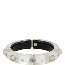 Pearl Studded Faceted Bangle