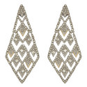 Crystal Lattice Drop Earrings, ${color}