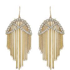 Fringe Crystal Earrings