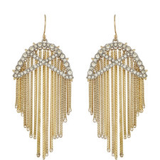 Fringe Crystal Earrings