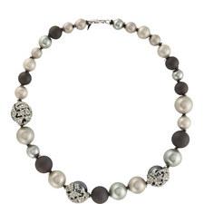 Embellished Pearl Necklace