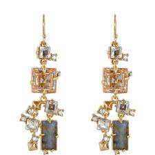 Geometric Stone Wire Earrings