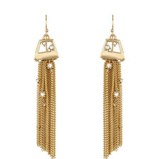 Geometric Tassel Earrings