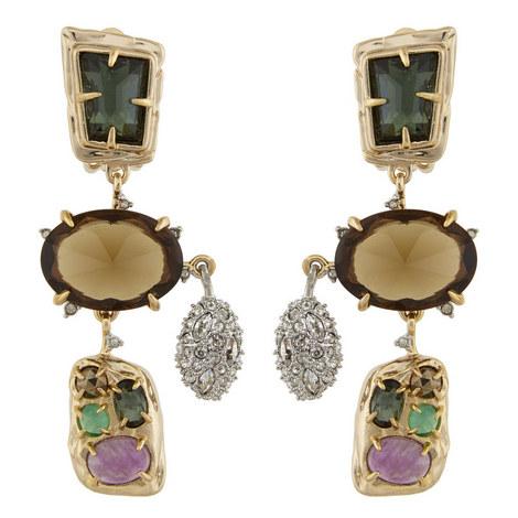 Crystal Drop Earrings , ${color}