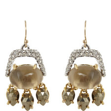 Crystal Drop Earrings Small