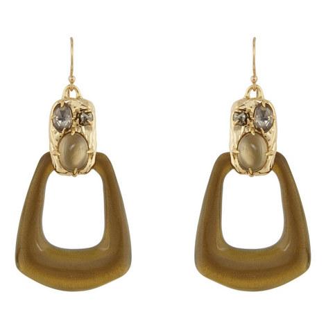 Open Drop Pendant Earrings, ${color}
