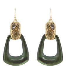 Open Drop Pendant Earrings