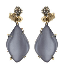 Resin Cluster Drop Earrings