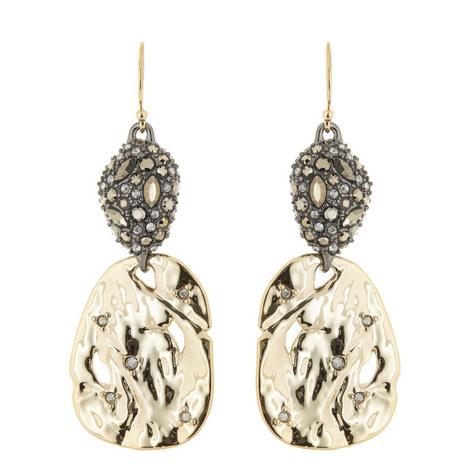 Crystal Pavé Pod Hook Earrings, ${color}