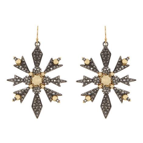 Snowflake Drop Earrings, ${color}