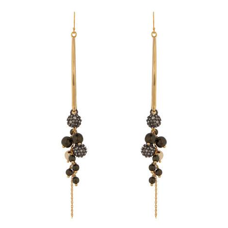 Bead Cluster Earrings, ${color}