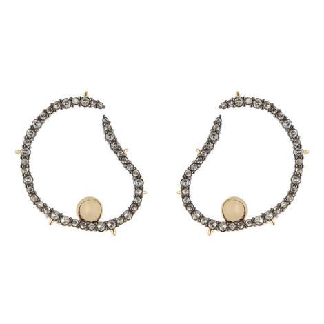 Wavy Hoop Earrings, ${color}
