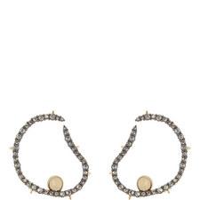 Wavy Hoop Earrings