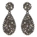 Crystal Pavé Drop Earrings, ${color}