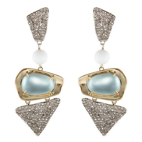 Crystal-Encrusted Bead Clip-On Earrings, ${color}