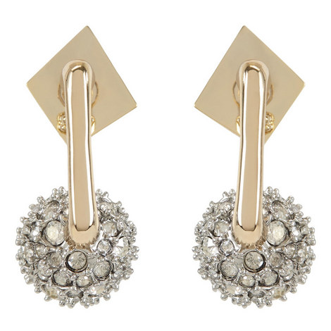 Pavé Ball Earrings , ${color}