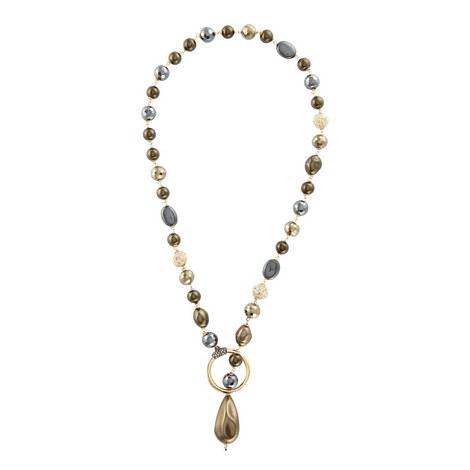 Baroque Crystal & Pearl Necklace, ${color}