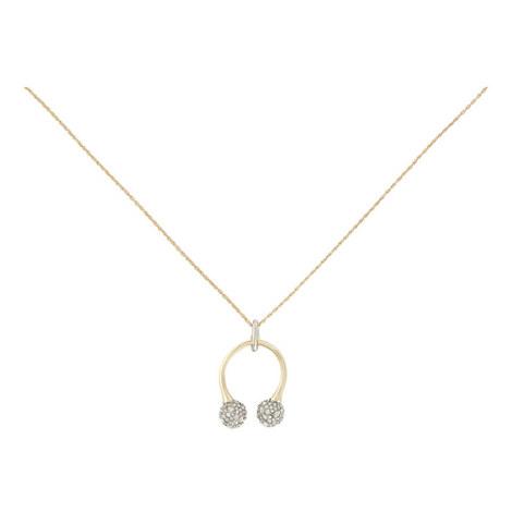 Crystal Pavé Hoop Necklace, ${color}