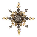 Snowflake Crystal Brooch, ${color}