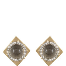Lucite Square Stud Earrings