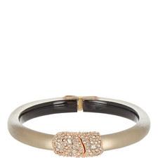 Crystal-Encrusted Hinge Bracelet