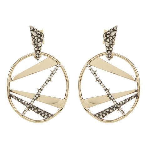 Crystal Plaid Medallion Earrings , ${color}