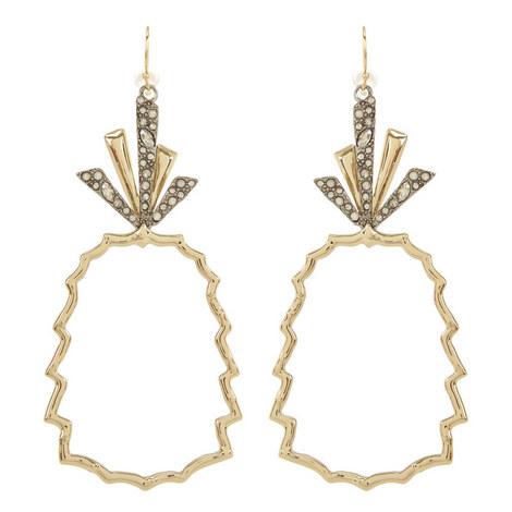 Crystal Pineapple Earrings, ${color}
