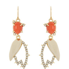 Abstract Tulip Drop Earrings