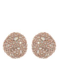 Crystal Pavé Stud Earrings