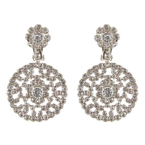 Crystal Circle Drop Earrings , ${color}