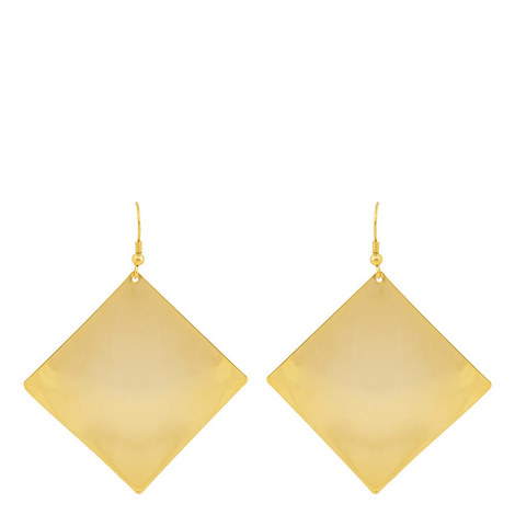 Diamond Disc Hook Earrings, ${color}