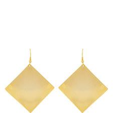 Diamond Disc Hook Earrings