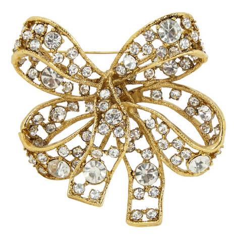 Garnished Bow Brooch, ${color}