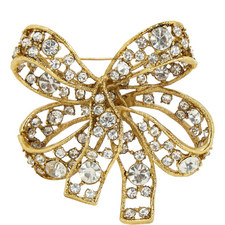 Garnished Bow Brooch