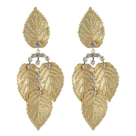 Drop Leaf Clip-On Earrings, ${color}
